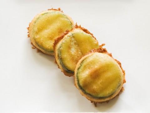 ズッキーニのひよこ豆フライ
