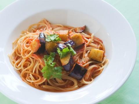 tomato-source-pasta-of-the-deep-frying-eggplant
